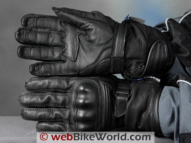 Halvarssons Safety Grip Motorcycle Gloves - Top and Bottom View