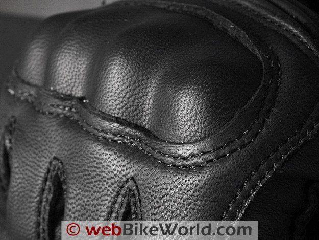 Halvarssons Safety Grip Motorcycle Gloves - Close-up of Goat Leather