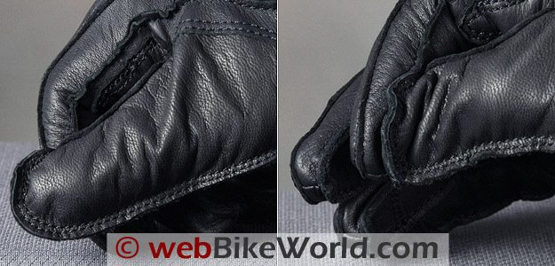 Halvarssons Safety Grip Motorcycle Gloves - Thumb Close-up