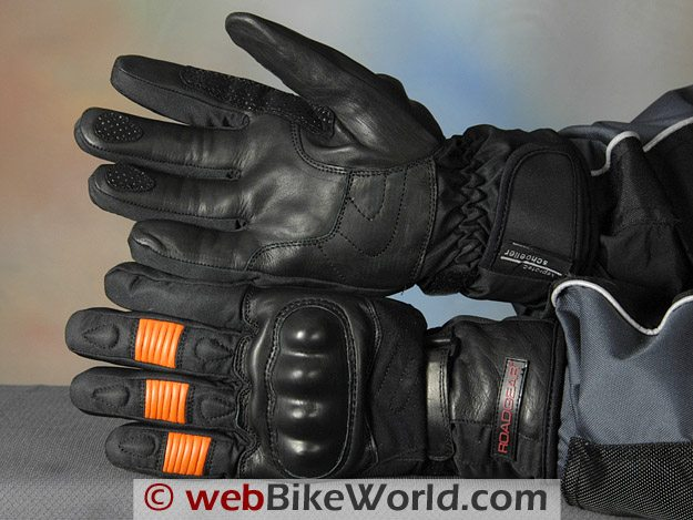 Roadgear H2O Maxx Motorcycle Gloves - Top and Bottom Views