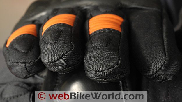 Roadgear H2O Maxx Motorcycle Gloves - Fingertips and Stitching