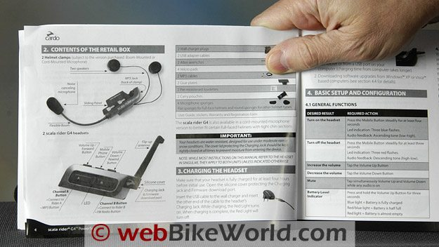 Scala Rider G4 Intercom Owner's Manual