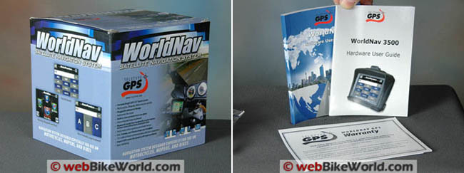 WorldNav 3500 GPS Box and Owner Manual