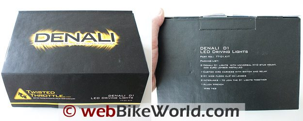 Denali LED Lights - Box and Contents