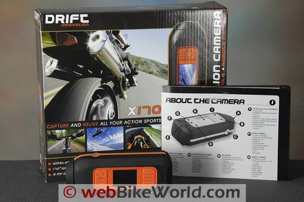 Drift X170 Video Camera and Parts