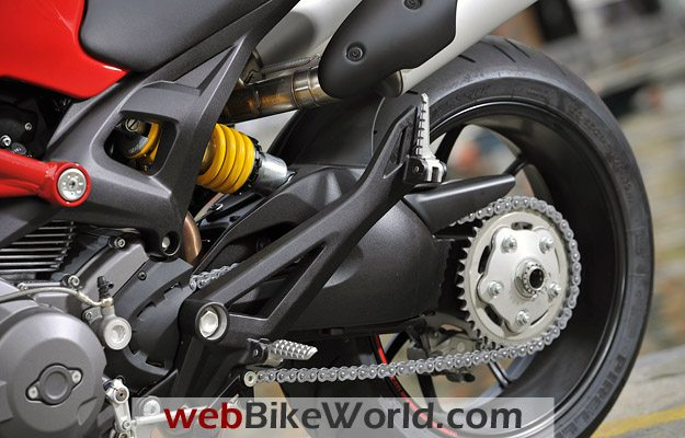 Ducati Monster 796 - Rear Swingarm and Tire