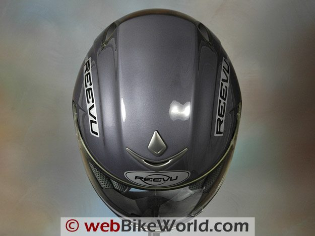 Reevu MSX1 Rear View Mirror Helmet - Top View