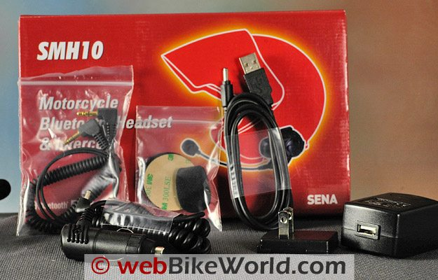 Sena SMH10 Motorcycle Bluetooth Intercom - Parts and Accessories