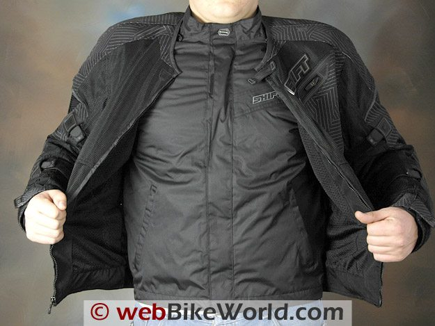 Water Resistant Liner on the Shift Trifecta Jacket