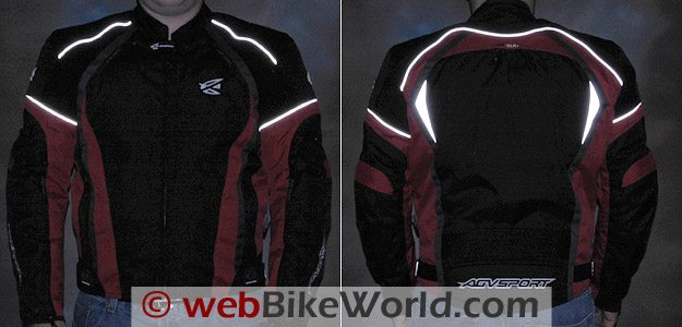 Reflective material used on the AGV Sport Tempest Jacket.