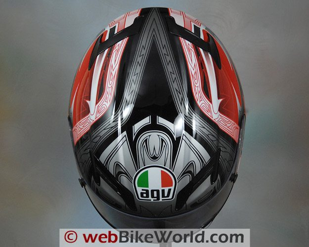 AGV T-2 Helmet - Top View