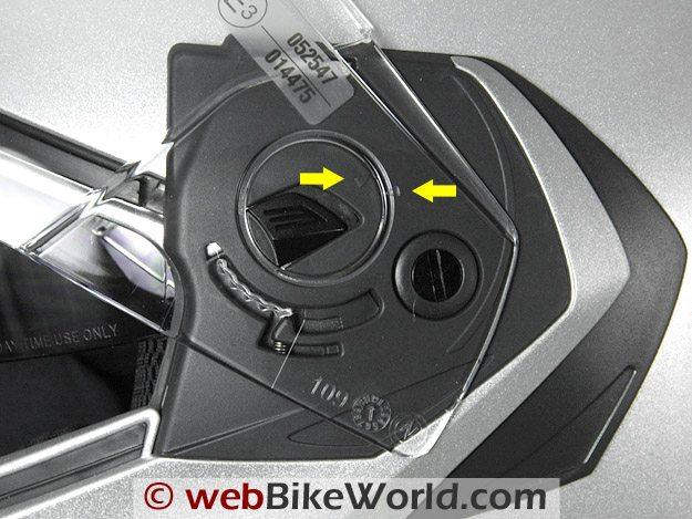 Caberg Konda - Face Shield Removal