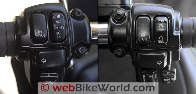 Harley-Davidson Road Glide Custom - Left and Right Controls