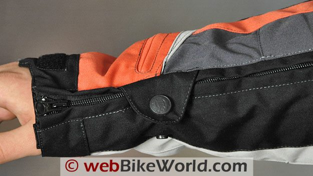 British Motorcycle Gear Adventure Jacket - Arm and Sleeve Zipper