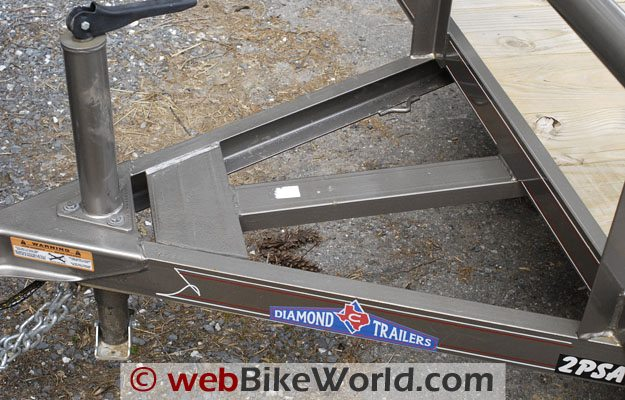 Diamond C Motorcycle Trailer - Frame Construction