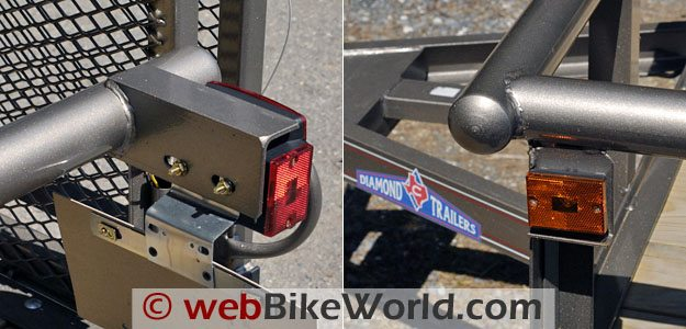 Diamond C Motorcycle Trailer - Running Lights