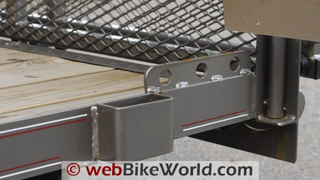 Diamond C Motorcycle Trailer - Tie Down Points