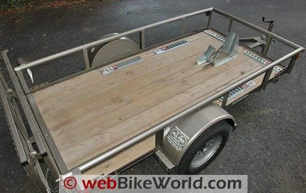 Diamond C Motorcycle Trailer - Top View