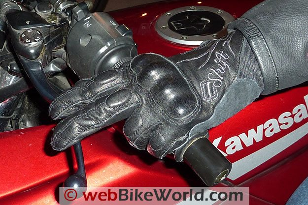 Shift Dynasty Women's Motorcycle Gloves - On Hand Grips