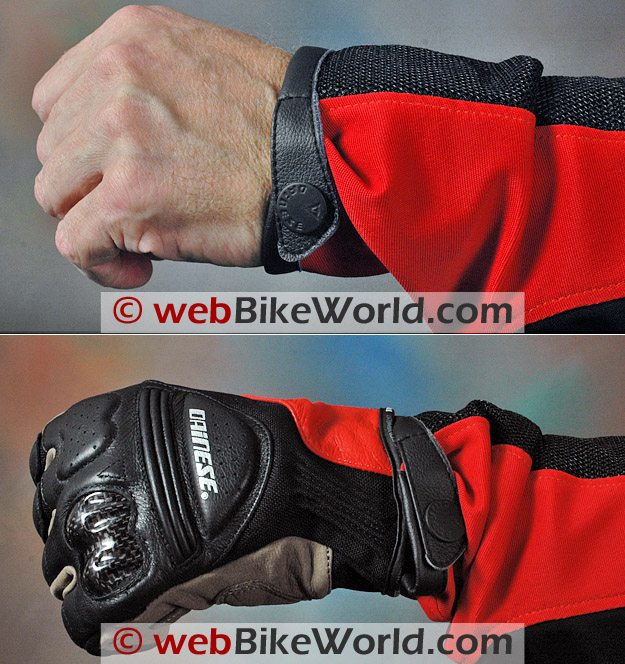 Dainese Shotgun Jacket - Sleeve cuffs and glove fit