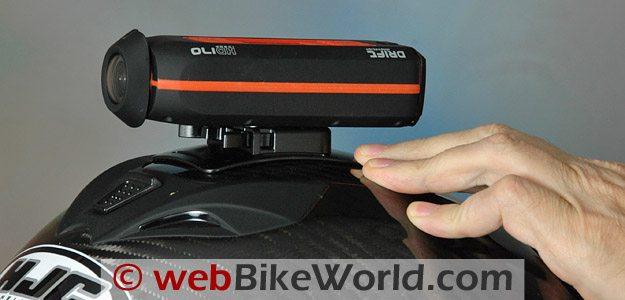 Drift HD 170 - Mounted on HJC Carbon Helmet