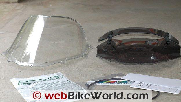 Ducati vs. MRA Windscreen Size Comparison