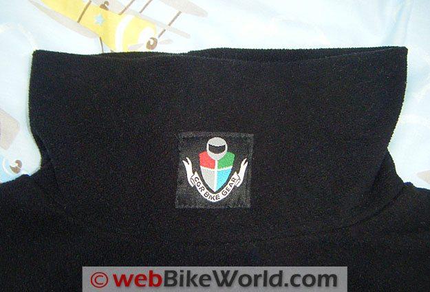 CGR Bike Gear Fleece Polo - Neck Details