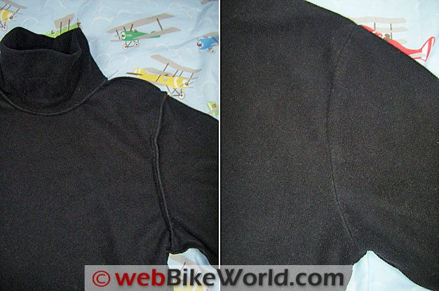 CGR Bike Gear Fleece Polo - Sleeve Stitching Details