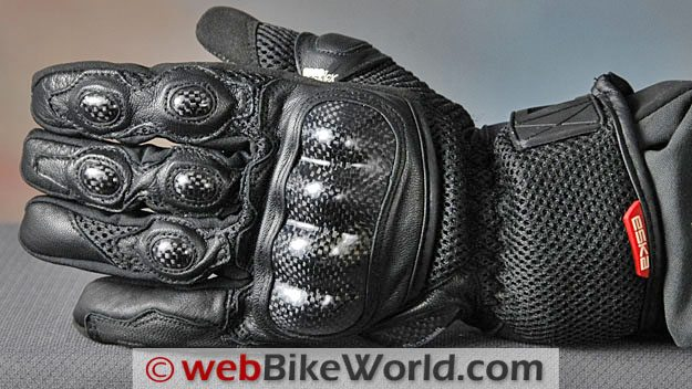 Eska H2 Motorcycle Gloves - Top View