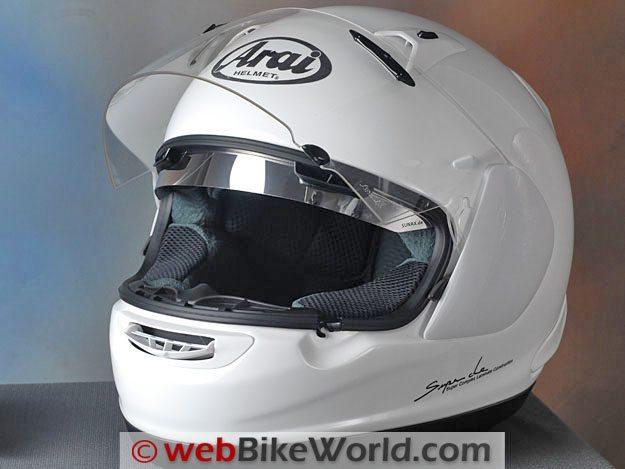 Sunax Sunshield - Installed in Arai RX-Q (Quantum) Helmet