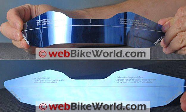 Sunax Sunshield - Silver Blue Tint
