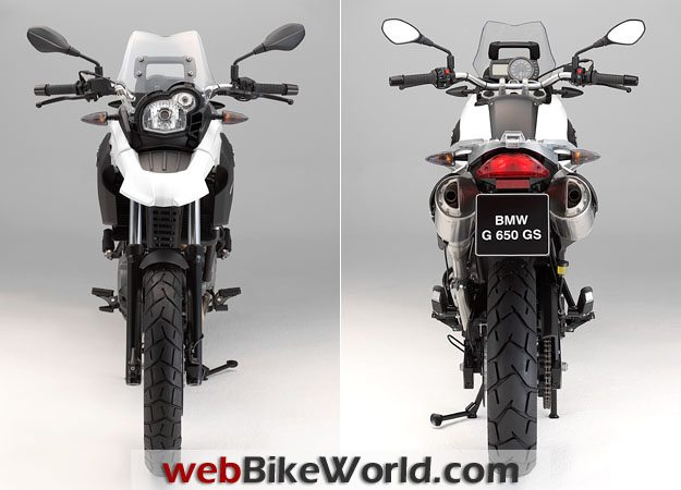 BMW G 650 GS Front and Rear