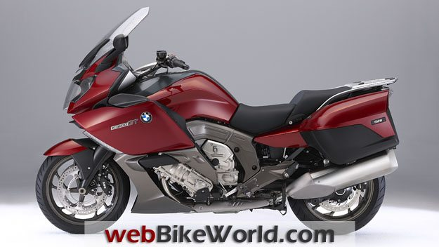 BMW K1600GT and K1600 GTL - Red, Left Side