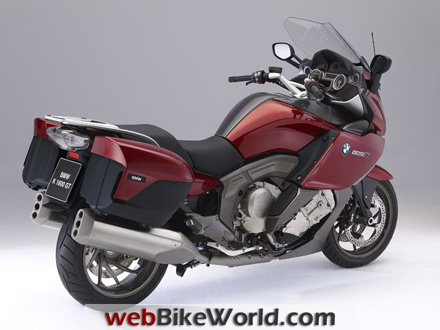 BMW K1600GT and K1600 GTL - Red, Rear Right
