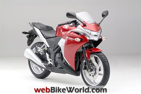 Honda CBR250R - Red, Front View