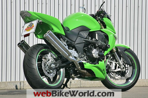 2010 Kawasaki Z1000 WARM-UP Super4 Exhaust.