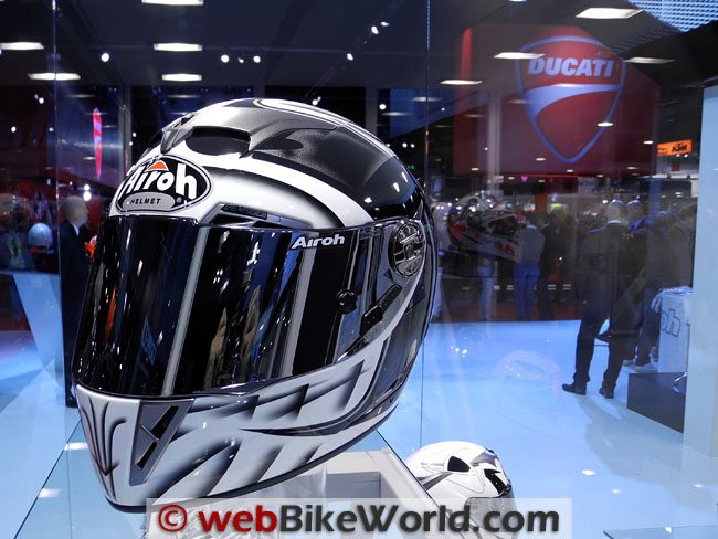 Airoh Helmet Black and White Graphics