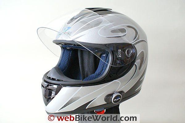 Blutek Bluetooth Motorcycle Helmet - Silver
