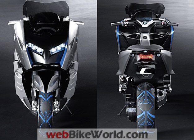 BMW Concept C Front and Rear Views