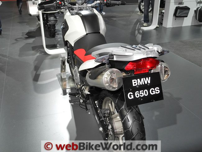 BMW G650GS Rear View