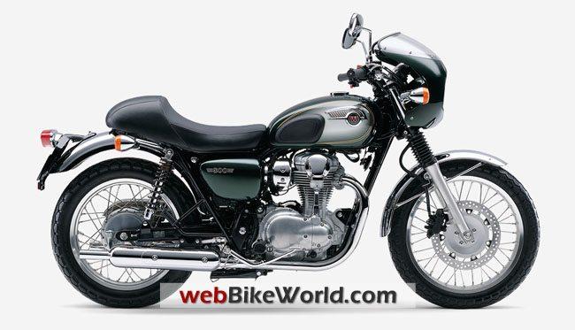 Kawasaki W800 Café Racer - Green