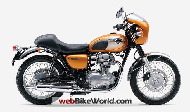 Kawasaki W800 Café Racer - Orange