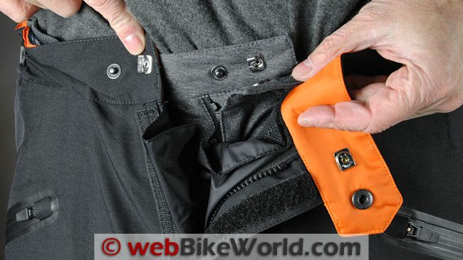 Firstgear Escape Pants - Waist Snaps