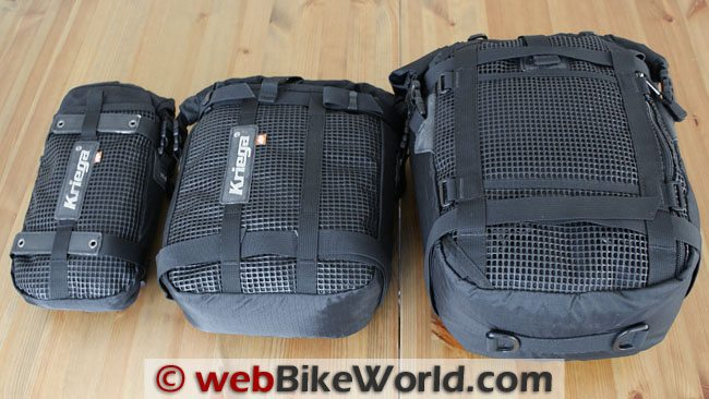 Mesh Backing on Kriega Drypack Luggage