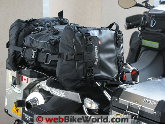 Kriega US-5 Drypack and Fenderpack Motorcycle Luggage