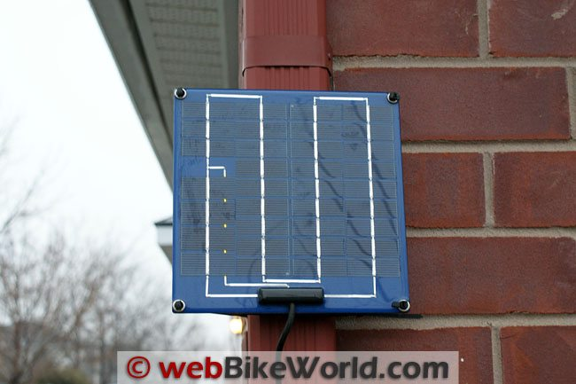 PulseTech Solar Battery Charger Solar Panel Outside