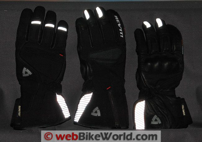 Rev'it GTX Winter Gloves - Reflectivity