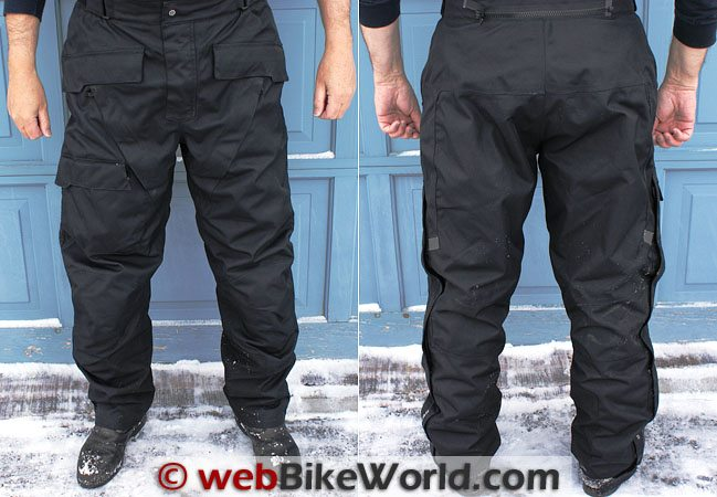 Firstgear HT Overpants - Front and Rear Views