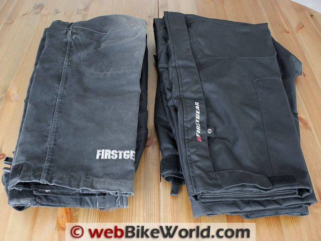 Firstgear HT Overpants - Old vs. New