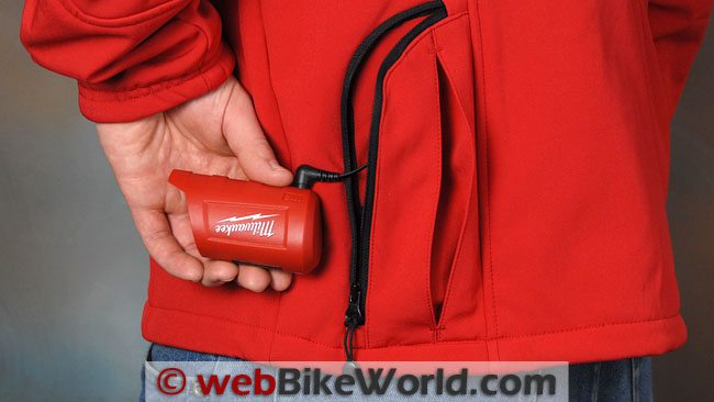 Milwaukee Heated Jacket - Battery in Pocket